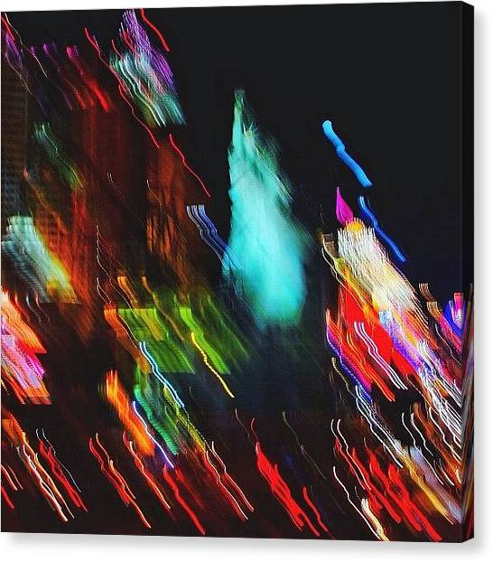 Art Movements Canvas Print - Lights In Action In The City That Never by Karen Winokan