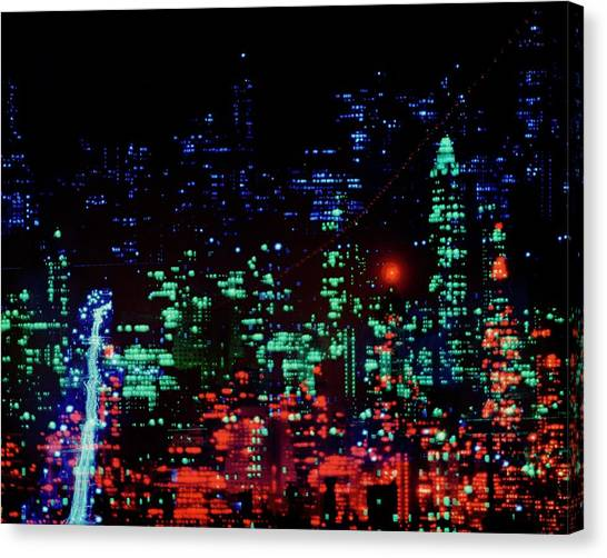 Lights Of New York City Canvas Print