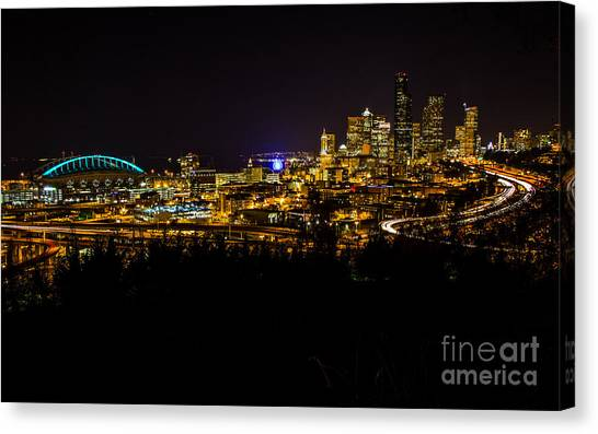 Lights Of Seattle Canvas Print