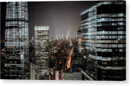 Bladerunner Canvas Print - Lights Of The City by Luca Fontana
