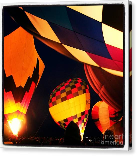 Hot Air Balloons Canvas Print - Lights Of The Glowdeo by Susan See