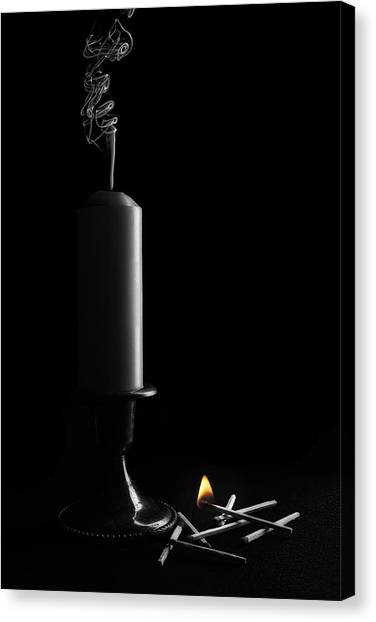 Candle Stand Canvas Print - Lights Out Still Life by Tom Mc Nemar