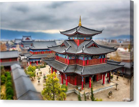 China Town Canvas Print - Lijiang, Yunnan, China by Kiszon Pascal