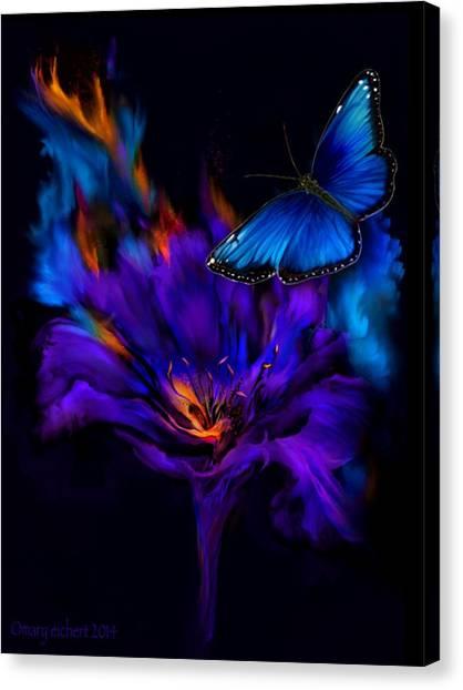 Like A Moth To A Flame Canvas Print