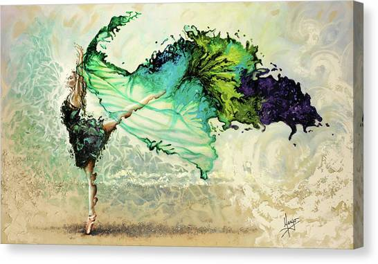 Ballerina Canvas Print - Like Air I Will Raise by Karina Llergo