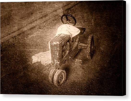 Tractor Canvas Print - Like Father Like Son by Tom Mc Nemar