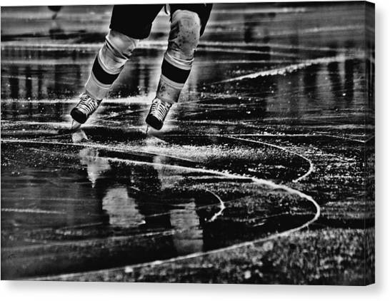 Hockey Players Canvas Print - Like Glass by Karol Livote