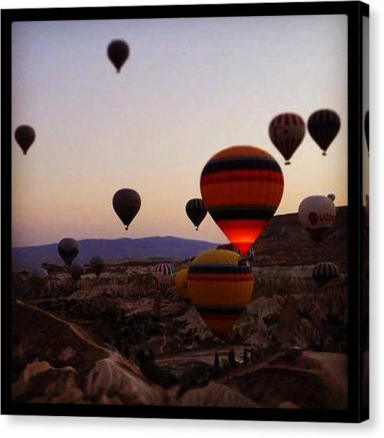 Balloons Canvas Print - Like In A Dream... #turkiye #turquie by Celine Biz