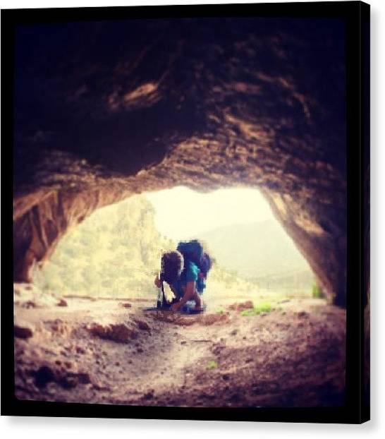 Spelunking Canvas Print - Lil Man #spelunking by Grant Breuer