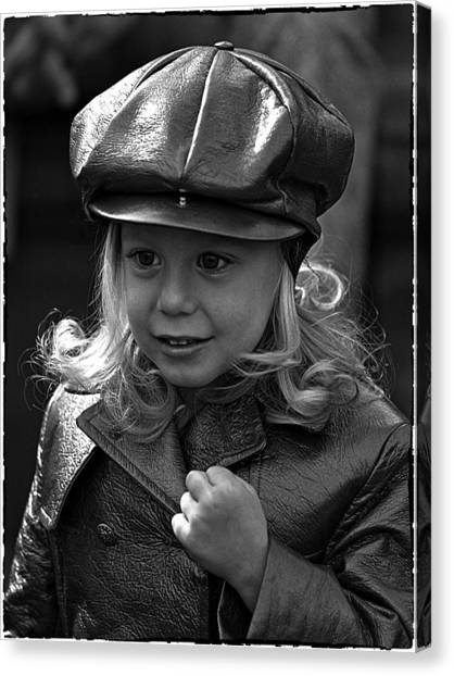 Lil Miss Leather Canvas Print by Hal Norman K