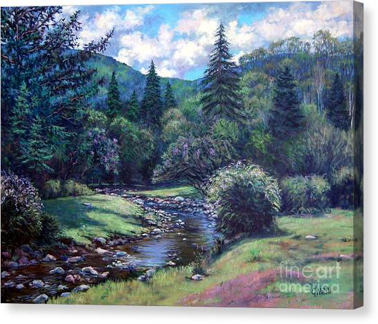 Lilac Brook Canvas Print by Gerard Natale