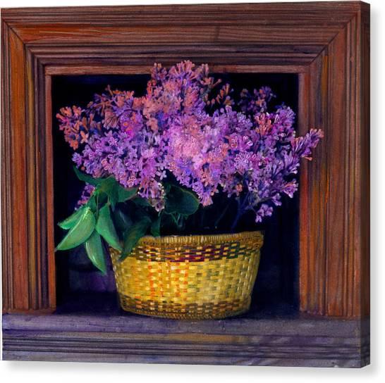 Lilacs Framed Canvas Print