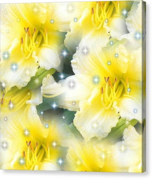 Lilies Photograph By Saribelle Rodriguez Canvas Print