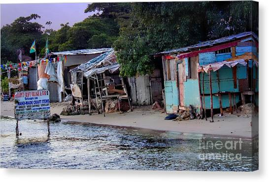 Liliput Craft Village And Bar Canvas Print