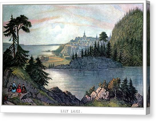 New Brunswick Canvas Print - Lily Lake - St. John, New Brunswick by Vintage Images