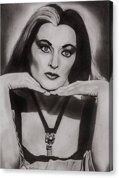 Mockingbird Canvas Print - Lily Munster by Brian Broadway