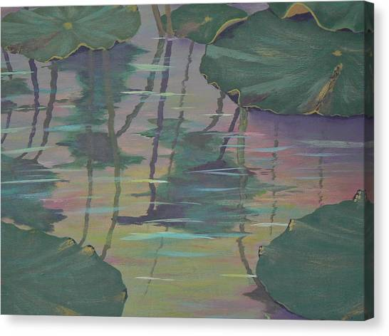 Lily Pad Reflections Canvas Print