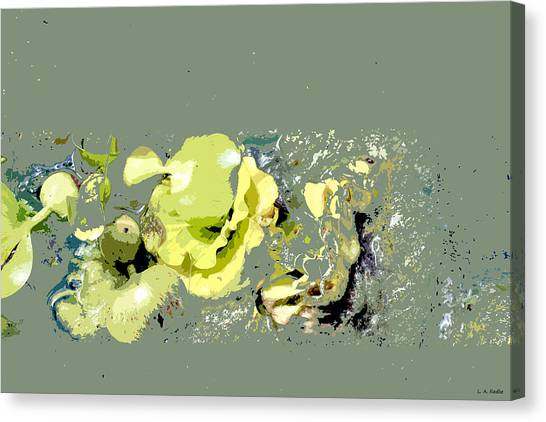 Lily Pads - Deconstructed Canvas Print
