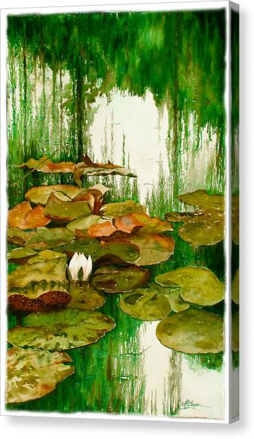 Reflections Among The Lily Pads Canvas Print