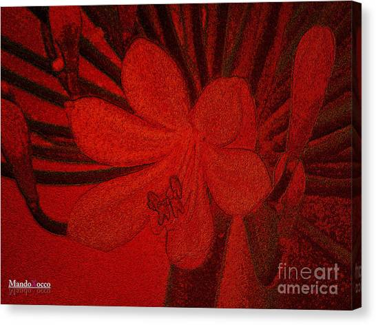 Lily Red Canvas Print