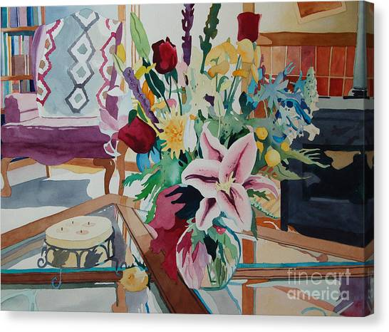 Lily Still Life Canvas Print