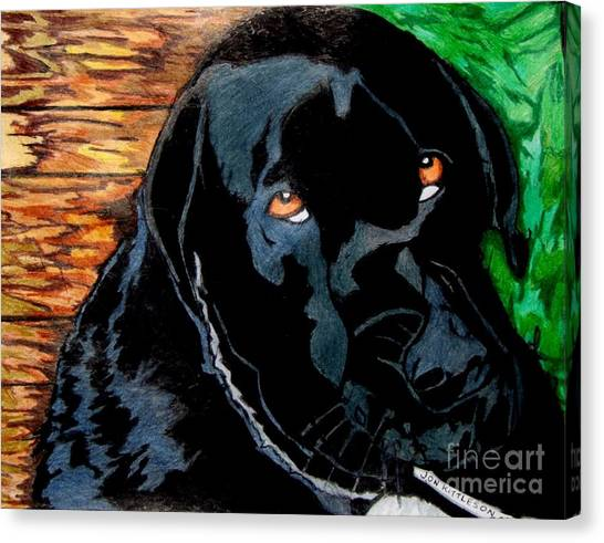 Lily The Dog Canvas Print