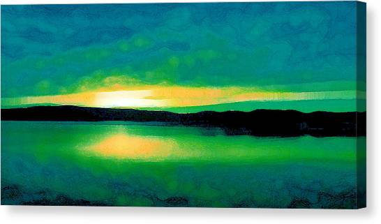 Lime Sunset Canvas Print