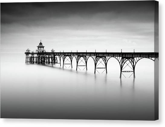 Pier Canvas Print - Liminal Land by Robert Bolton