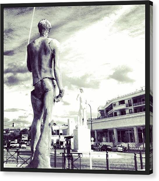 Greek Art Canvas Print - L'imitation #david #puget #sculpture by Cedric Jouve