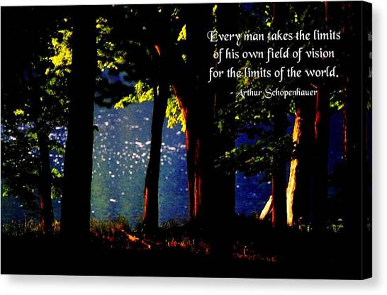 Limits Of Vision Canvas Print by Mike Flynn