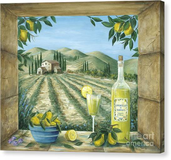 Wine Country Canvas Print - Limoncello by Marilyn Dunlap