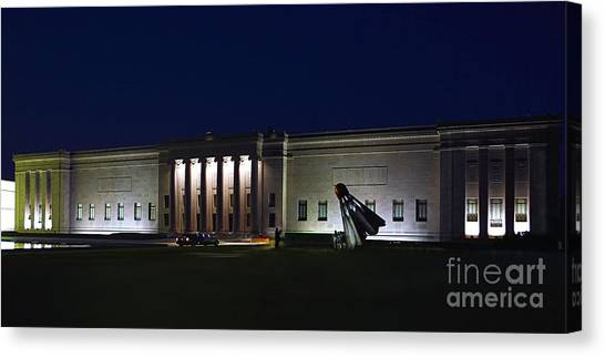 Bachelorette Canvas Print - Limousine At The Nelson Atkins Museum by Catherine Sherman