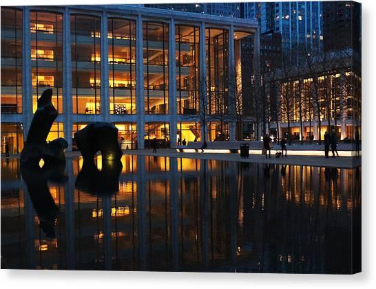 Lincoln Center Gold Canvas Print