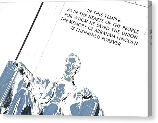Lincoln In Shades Of Grey Canvas Print