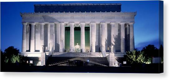 Lincoln Memorial Canvas Print - Lincoln Memorial At Dusk, Washington by Panoramic Images