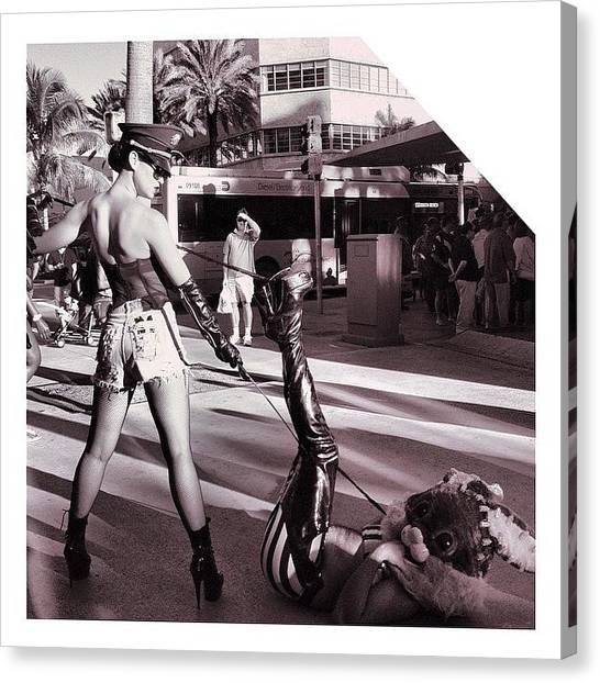 Racism Canvas Print - #lincolnroad #sneak At Someone's by Maria Lankina