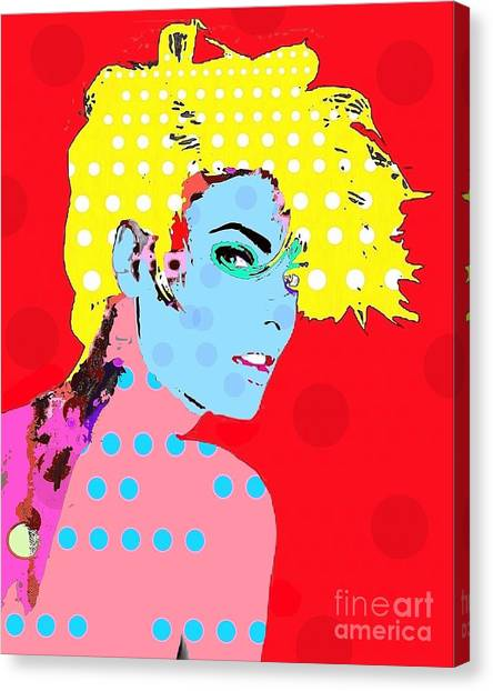 Linda Evangelista Canvas Print by Ricky Sencion