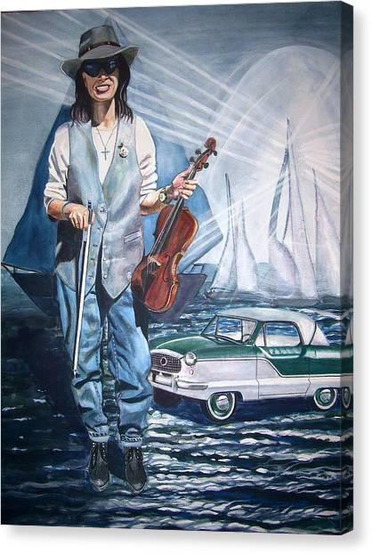 Linda On Water Canvas Print by Linda Vaughon