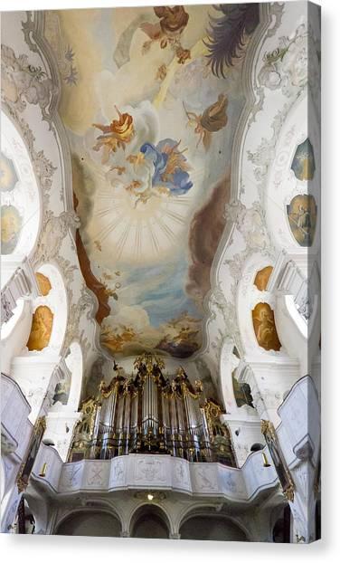 Lindau Organ And Ceiling Canvas Print
