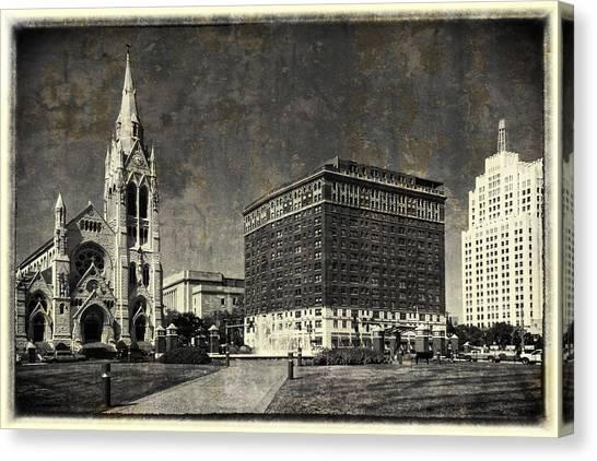 Saint Louis University Canvas Print - Lindell At Grand St Louis Vintage Dsc02723 by Greg Kluempers