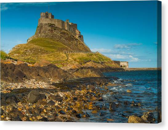 Lindisfarne Castle Canvas Print by David Ross