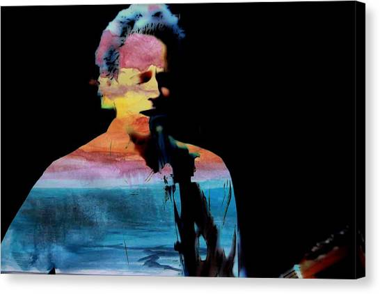 Mac Digital Music Canvas Print - Lindsey Buckingham by John Delong