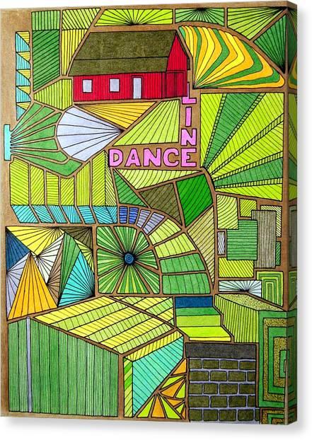 Line Dance Canvas Print