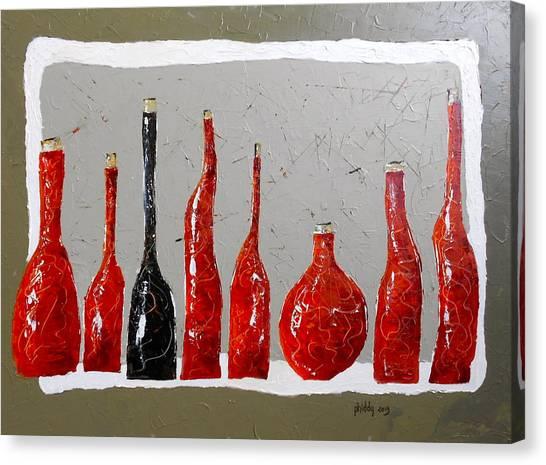 Line Of Wine Canvas Print