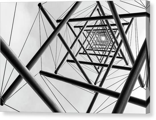 Installation Art Canvas Print - Lines by Carla Vermeend