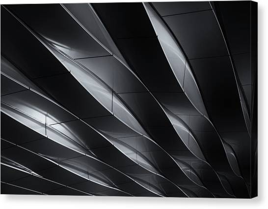 Modern Architecture Canvas Print - Lines In Motion by Jeroen Van De