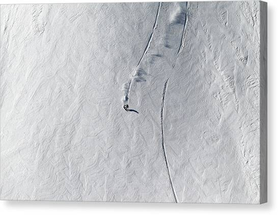 Skiing Canvas Print - Lines by Jakob Sanne