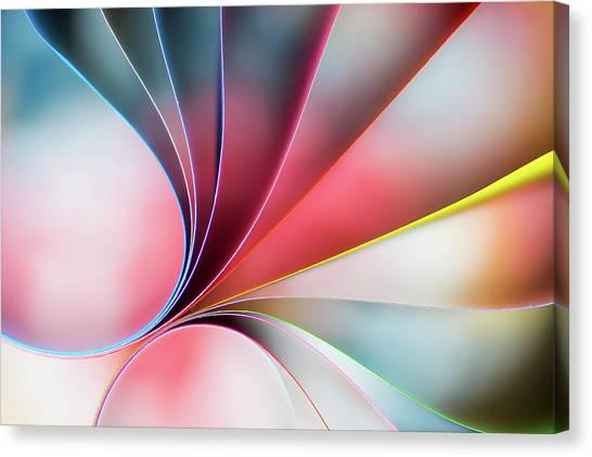 Colourful Canvas Print - Lines by Mazin Alrasheed Alzain