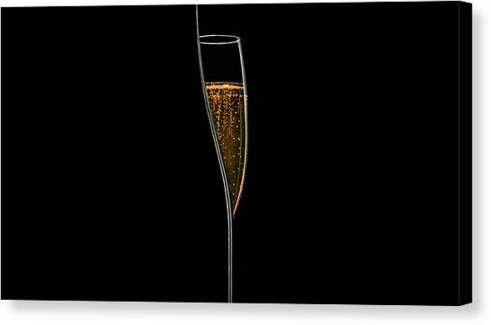 Champagne Canvas Print - Lines Of Light by Jackson Carvalho