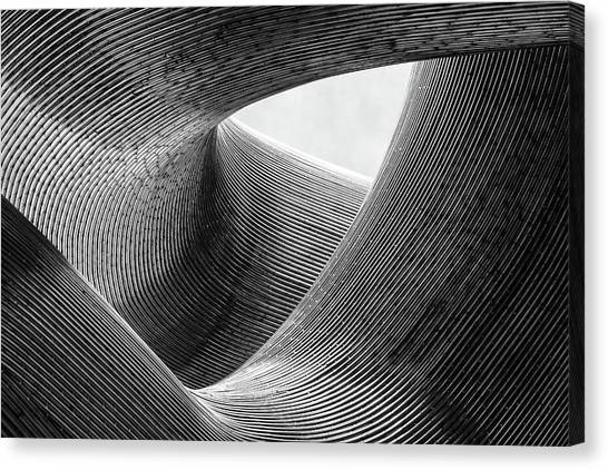 Metal Canvas Print - Lines by Peter Pfeiffer